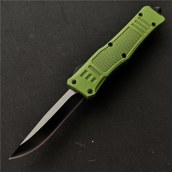 Уличное снаряжение 616 Двойного действия автоматический нож Светло-зеленый 440C Лезвие EDC Выживание Тактические охотничьи ножи электроинструменты J7M Q