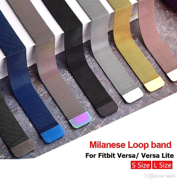 For fitbit ver a lite milane e loop trap band tainle teel metal magnetic replacement wri tband fa hion mart watch bracelet