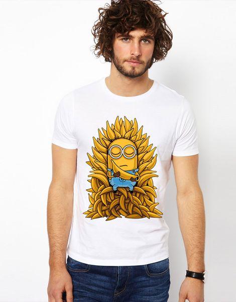 New Fashion Summer Style Brand T shirts Minions T-shirts Men Short Sleeve O-neck Game of Thrones deadpool Tshirts