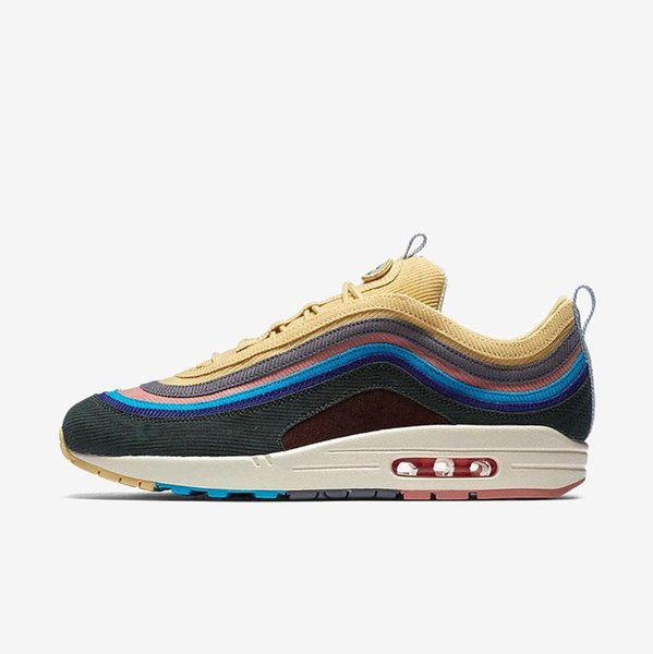 2018 Release 97 Sean Wotherspoon x 1/97 VF SW Hybrid For Man Women Running Shoes Corduroy Rainbow Authentic Sneakers Sports With Box