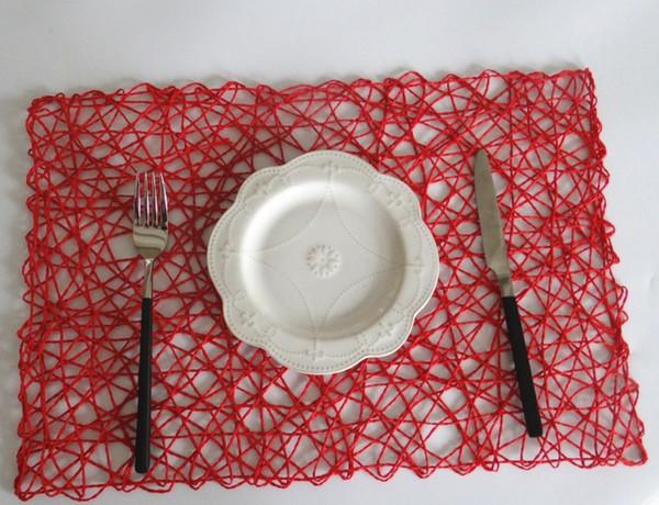 30 * 45 CM Hohlpapier Matte 4 Farben Platz Tischset Handwerk Papier Dekoration Deckchen Tischdekoration 20 Stücke DHL