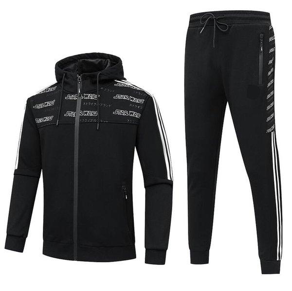 2020 mens invierno chándales que llegaban nuevos juegos de deporte de la pista Marca Marca caliente grueso de la chaqueta abrigos otoño Sportsuits XL-5XL 2 color opcional
