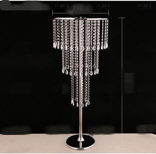 new style tall Large table top crystal chandelier Pendant Wedding Centerpieces Crystal Flower stand centerpieces for weddings best0923