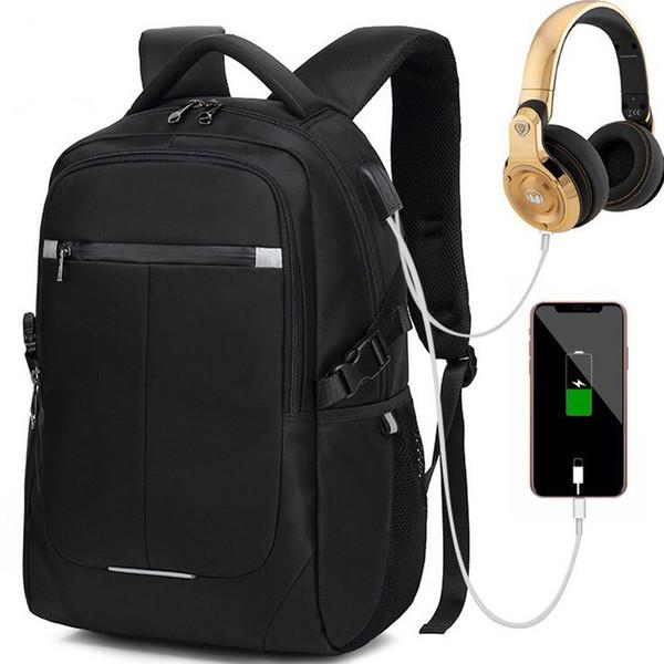 Waterproof Usb Charging Men Large Laptop Backpacks Teenager Fashion School Bag Business Mochila Leisure Travel Backpacks