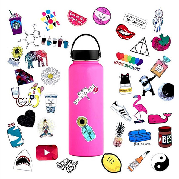 1000Pcs/Pack Vinyl Laptop Sticker Fashion Style Waterproof Computer Skin Refrigerator Mixed Decals Stickers For MacBook/HP/Huawei