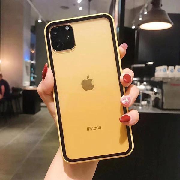 Toptan Sarı Renk Telefon Kılıfı iphone XS MAX XR 11 PRO MAX Şeker Renk Tam Kapak iphone 6 6s 7 8 artı için