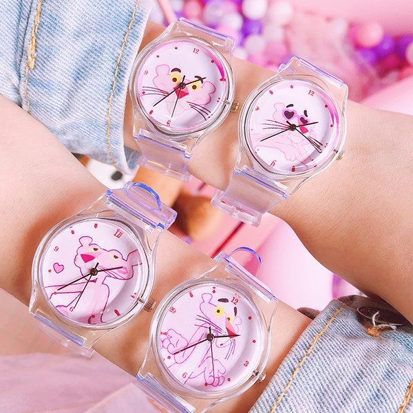 top popular New product launch cute animal fresh children kids watch transparent soft silicone child girls boys clock simple student watches 2020