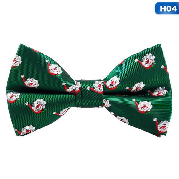 Рождественский галстук-бабочка мужская мода черный галстук-бабочка красный для фестиваля зеленое дерево Санта-Клаус Снежинка галстуки-бабочки для мужчин женщин