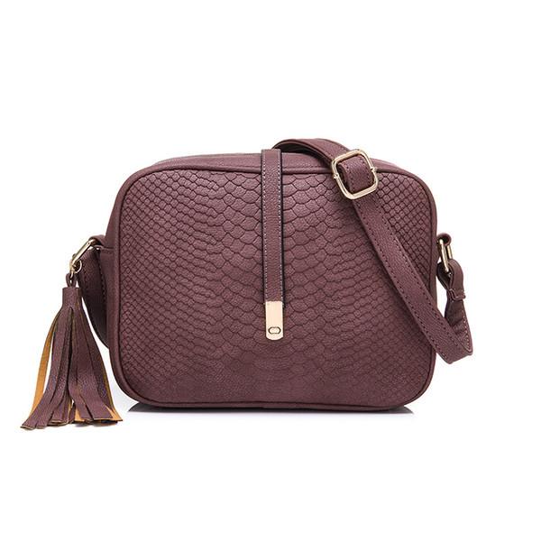 REALER small crossbody bags for women shoulder messenger bags ladies retro design handbag with tassel female school student bag Y190606