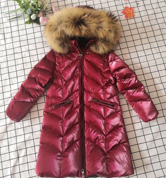 Giacca invernale Donna Cappotto in vera pelliccia Parka Cappotto imbottito in piumino d'anatra Colletto in vera pelliccia di procione Streetwear nero caldo