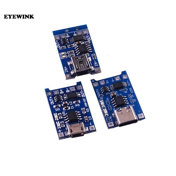 1 ШТ. TP4056 TC4056 Тип-с / Micro / Mini USB 5 В 1A 18650 Литиевый Аккумулятор Зарядное Устройство Модуль Зарядки Доска Двойной Функции Литий-Ионный