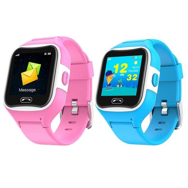 1.3inch Touch Screen SMA - M2 Children Smart wristband Phone GPS Tracker Waterproof HD Smart Watch For Kids SOS Call Pink Soft