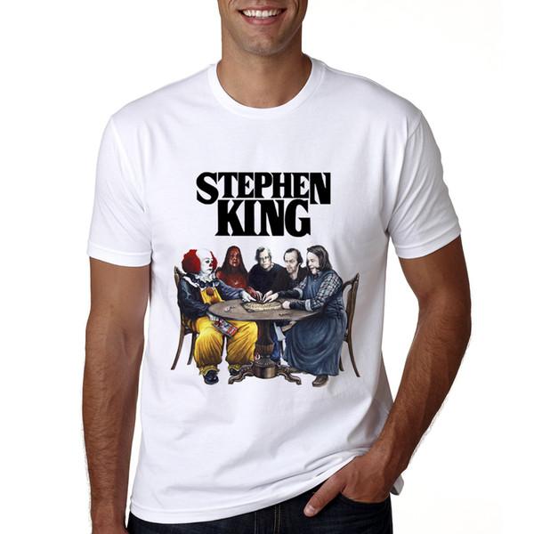 Новое прибытие Стивен Кинг это фильм футболка летние мужчины Стивен Кинг печать футболка повседневная прохладный это Стивен Кинг футболка мужской