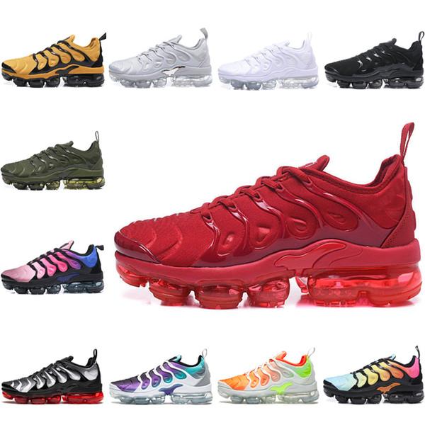 Yeni Gelenler YENI TN Artı Zeytin Metalik Beyaz Gümüş Colorways koşu Için Ayakkabı Erkek Ayakkabı Paketi Üçlü Siyah Mens Shoes-qw8d954a6s12zxczx