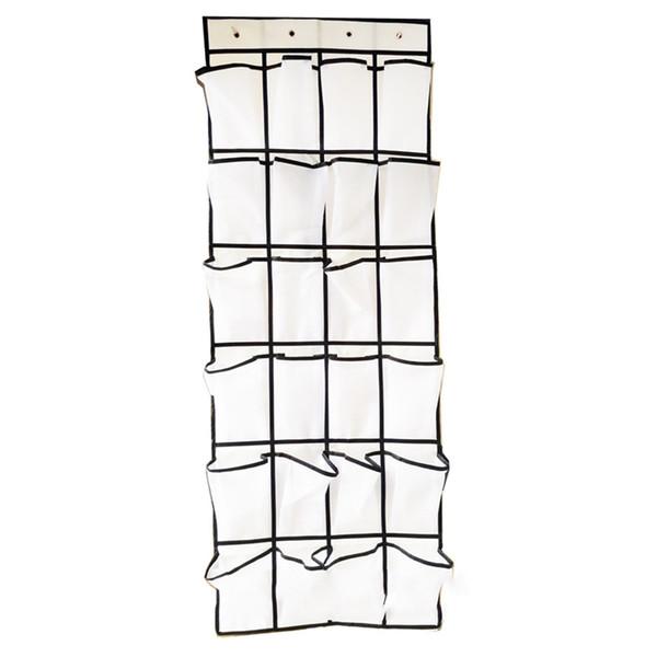 Tessuto a rack per scarpe da bagno Tessuto non tessuto a parete appeso a casa Tessuto durevole Home Organizer 24 griglie Tasca di archiviazione multistrato