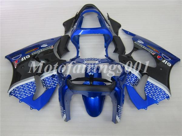 OEM Qualität Neue ABS Spritzguss Verkleidungen Kits 100% Fit Für Kawasaki Ninja ZX-6R ZX6R 636 2000 2001 2002 Karosserie Set blau schwarz