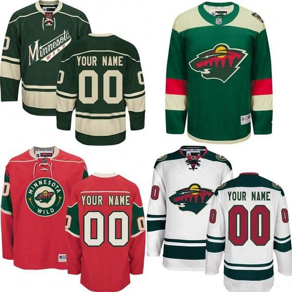 Customized Minnesota Wild hóquei jerseys especialmente feito personalizado personalizado QUALQUER número de nome 3 Charlie Coyle 11 Zach Parise Stadium Series