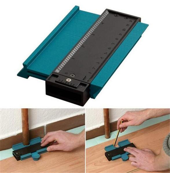 Nuevo hogar Calibrador de plástico Perfil de contorno Copia Duplicador Estándar 5 Ancho Herramienta de marcado de madera Azulejos Azulejos laminados Herramientas generales