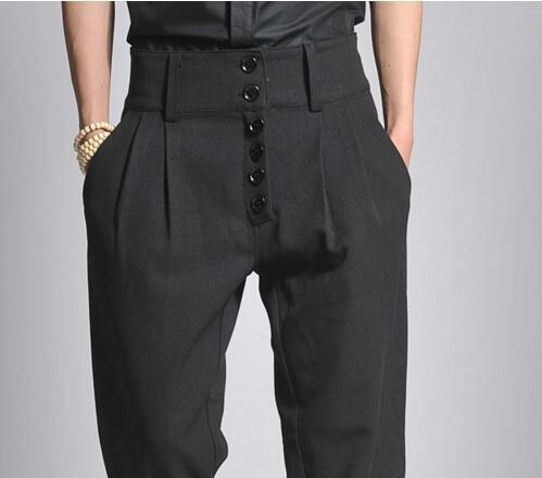 27-44 large size men's trousers 2018 men bootcut tall waist haroun pants, leisure trousers singer's clothing Hair stylist