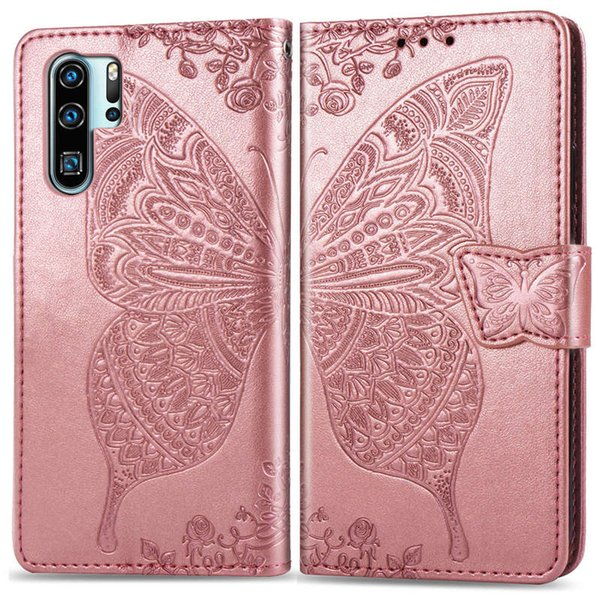 Luxury designer wallet phone case for Huawei P30 P20 PRO Mate20 Butterfly Pattern Embossed cover back Leather Card Pocket