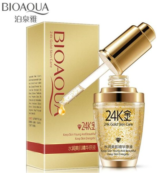 Bioaqua 24k gold foil face cream kin care toner moi turizing 24 k gold day cream hydrating e ence erum 30ml for women dhl
