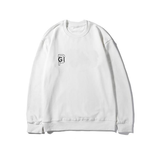 Marka Erkek Woemens Kazak Mektup Baskılı Siyah ve Beyaz Basit Moda Uzun Kollu Bluz Tişörtü Giyen Yüksek Kalite LSY98281
