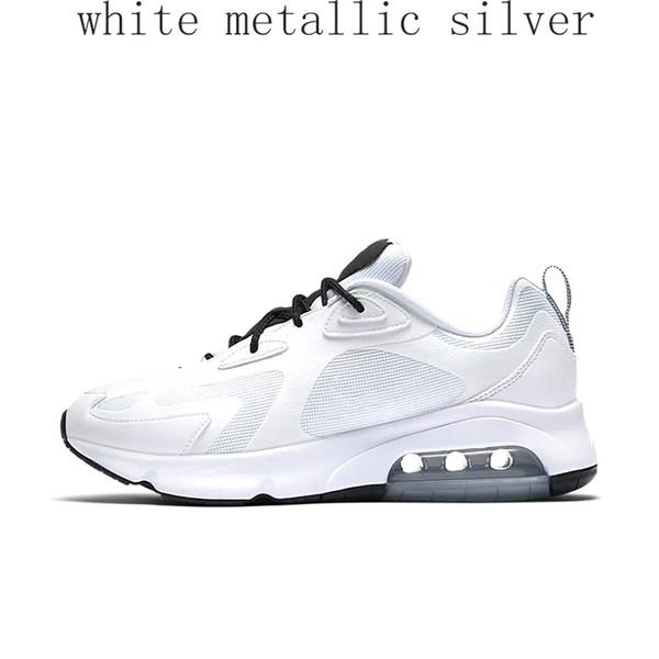 prata metálica branca