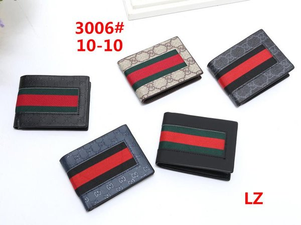 New designer clutch bag wallet high quality leather luxury men's short ladies wallet men's change card package 3006