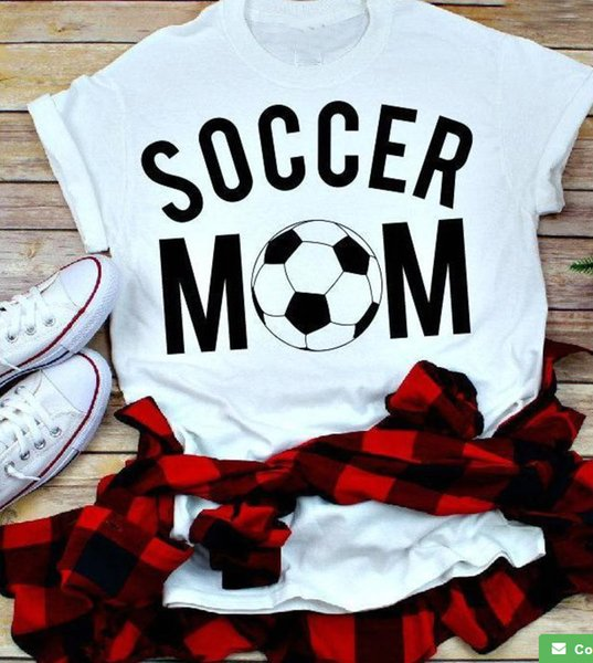 Soccer mom t shirt graphic women fashion mother days gift funny slogan cute grunge tumblr aesthetic camisetas cute tees art tops