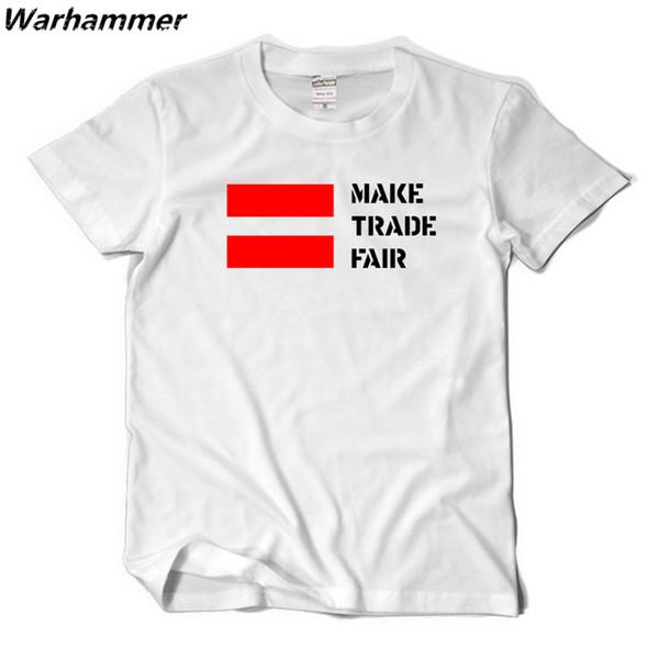 Fãs Homens camiseta T Chris Fazer Feira de Comércio Impresso Camiseta de Algodão de manga curta Homme Boa Qualidade O-pescoço camisetas