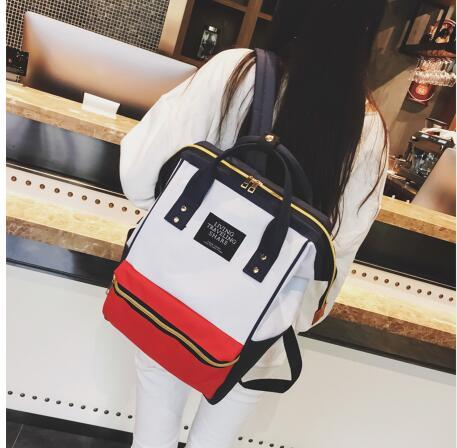 Oxford Women Backpack Big Capacity 20-35 Litre Student Backpack High Quality Schoolbags For Teenage Girls Fashion Black Book Bag