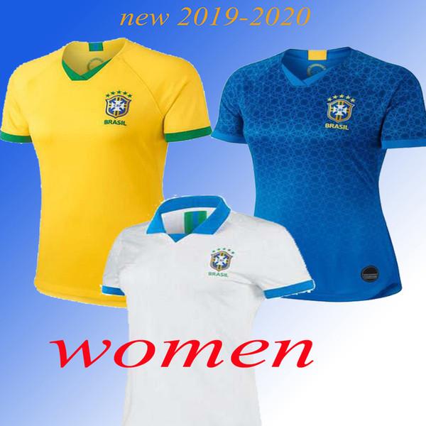 19 20 Brasil Selección Nacional Femenina COUTINHO Camiseta de Fútbol 2019 2020 Brasil Camiseta de Fútbol MARCELO WILLIAN Camiseta de Fútbol PAULINHO