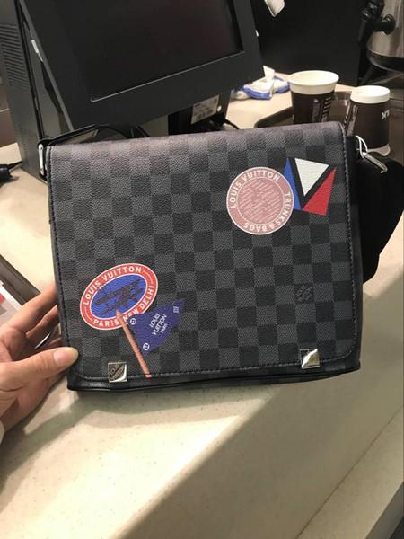 новая известная Классической мода Мужской кожи сумка посыльного крест мешок тела школа плече сумка Учиться в России портфель