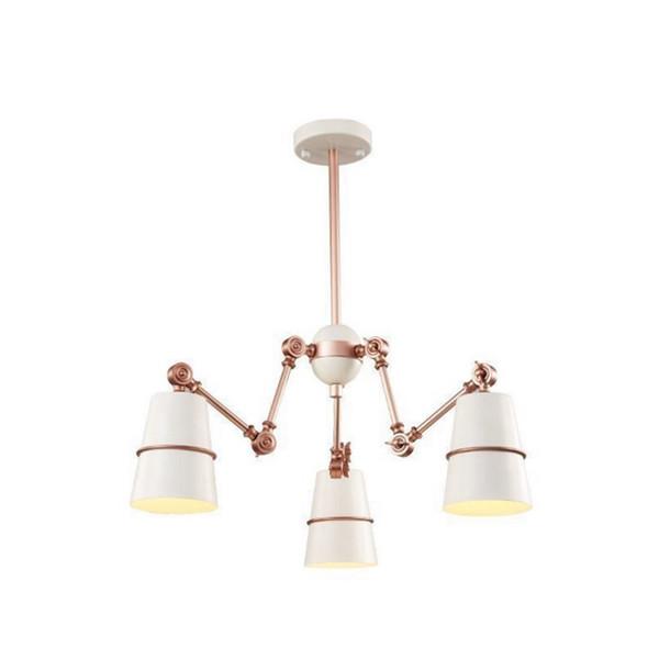 Moderne weiße schwarze hängelampe kronleuchter stahl spinne anhänger lampen aufklappbaren arm wohnzimmer esszimmer lampen fxiture lustre luminiare
