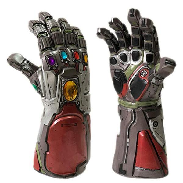 Avengers 4 Endgame Iron Man Infinity Gauntlet Hulk Cosplay Arm Thanos Latex Gloves Arms Mask Marvel Superhero Weapon Party Props