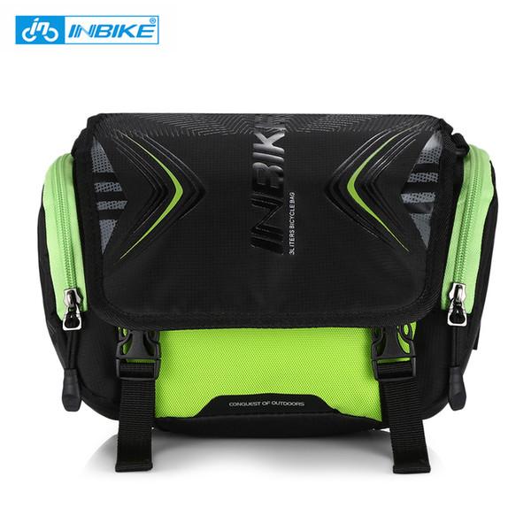 INBIKE Водонепроницаемая сумка для велосипеда Большой емкости Руль Передняя трубка Сумка для велосипеда Карманный наплечный рюкзак Велоспорт Велосипедные аксессуары