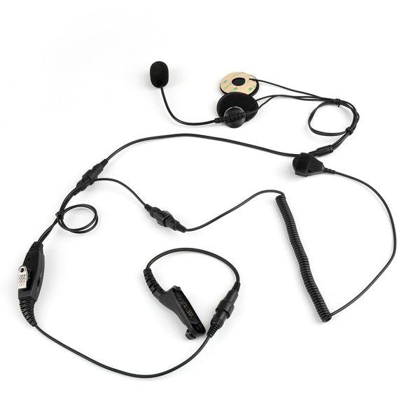 Motorola APX2000 APX6000 DGP8050 Taşınabilir Radyo Walkie Talkie için Motorcyle Yarım Yakın Kask Kulaklık Kulaklık Parmak PTT Mikrofon