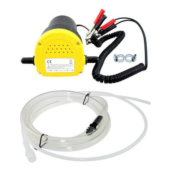 12V 60W Olio / petrolio greggio Fluid Transfer coppa Extractor scavenging Scambio di trasferimento della pompa di aspirazione della pompa + Tubi per auto per barche a motore
