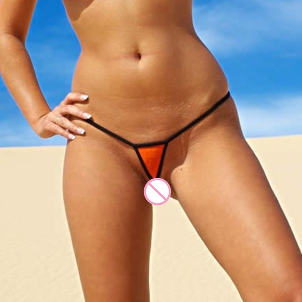 Extrema Sexy Super Mini Micro Tangas Bikini Bottom G-cordas Tanga Low Rise Mulheres Calcinhas De Algodão Lingerie Erótica Underwear Praia