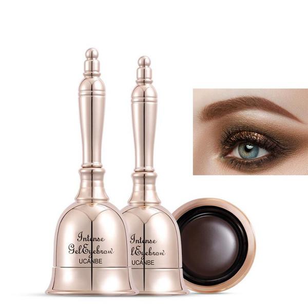 UCANBE Eyebrow Eyeliner Makeup Intense Gel Eyebrow Waterproof 24H Long Lasting Eye Liner Black Natural Brown Tattoo Beauty Bell 60pcs/lot