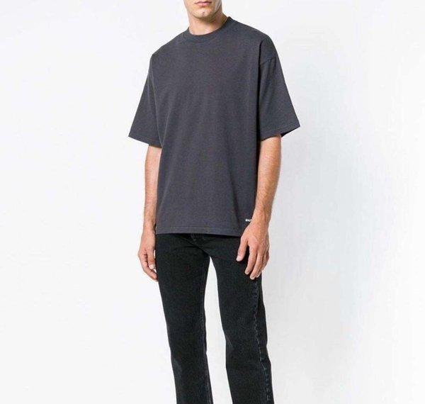 19SS Luxury Fashion Designer Lettres de base T-shirt brodé à manches courtes Homme et des femmes de haute qualité T-shirt S ~ XLGui