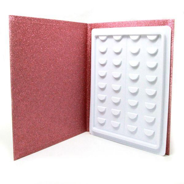 Private Label 3D Nerz Wimpern Buch Natürliche Falsche Wimpern Buch Handgemachte Gefälschte Wimpern Buch für Schönheit Make-Up