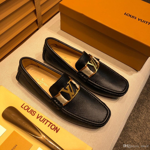 Mix 24 models Italian Luxury Designer leather dress shoes Top Leather wedding party men shoes suede fashion loafers heel shoes size 38-46