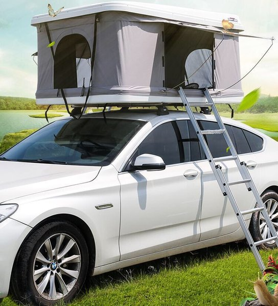 best selling Car roof tent ABS hard top waterproof and sunscreen hydraulic semi-automatic car camping roof tent double person