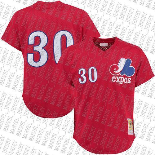 100% personalizado do bordado Montreal Expos Red Batting Practice Jersey costurado Personalizar qualquer nome número MEN XS-5XL NCAA JERSEY