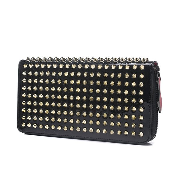 Fashion CL Designer Luxury Handbags purses for women ladies Fashion Clutch Bags Zipper Leather with spike rivet Party Sac à main