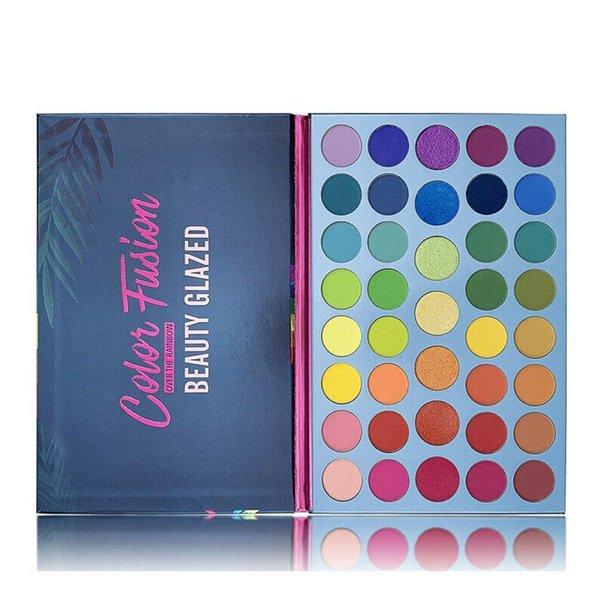 Mode Beauté Couleur glacé Fusion 39 Maquillage Eyeshadow Palette de couleurs Highlighte Neon Eye pigment Matte Shimmer fard à paupières Pallete