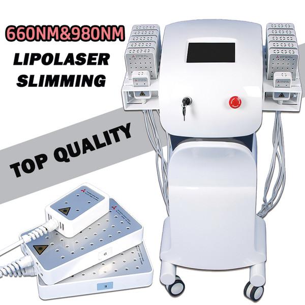 lipolaser slimming machine lipolaser 980 nm 660 nm body slimming home device 12 paddles fat reduction