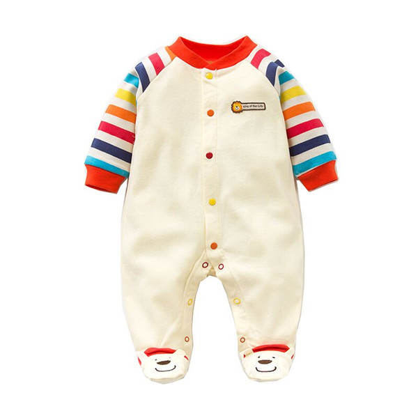 2019 Spring Autumn Baby Romper 100% Cotton Newborn Baby Clothes Long Sleeve Girl Clothing Cartoon Jumpsuit Infant Clothes