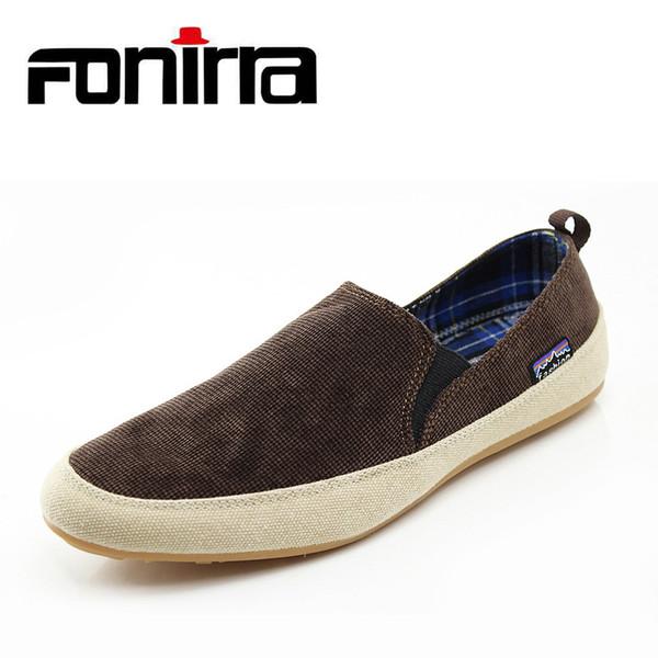 FONIRRA лето 2019 корейский стиль мужчины холст обувь Мода повседневная мужская обувь дышащий и мягкий холст повседневная квартиры для мужчин 160